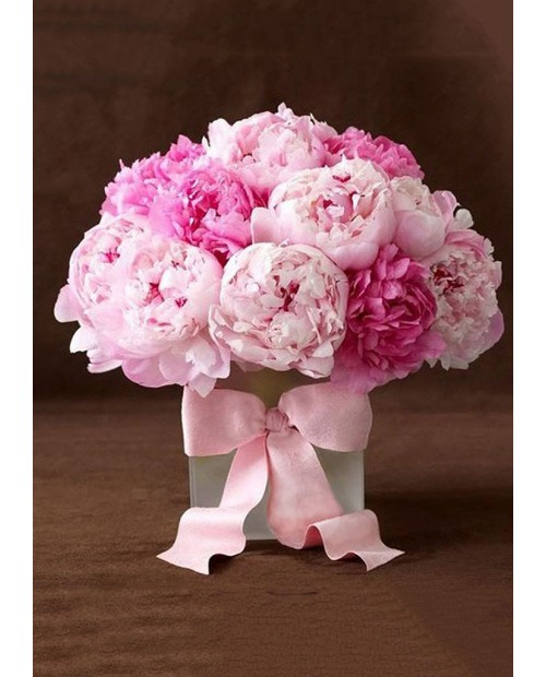 Peonies with Ribbon WD003