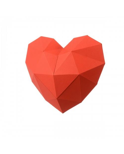 Wizardi 3D Papercraft Kit Heart PP-2HRT-RED