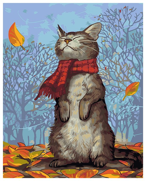 T50400023 Cat with Scarf