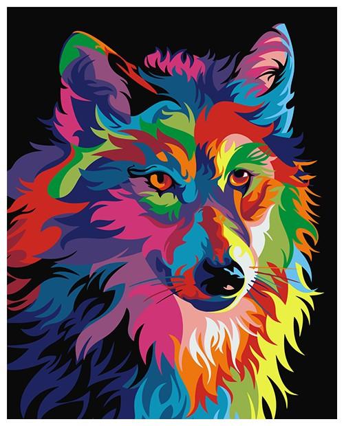T50400002 Rainbow Wolf