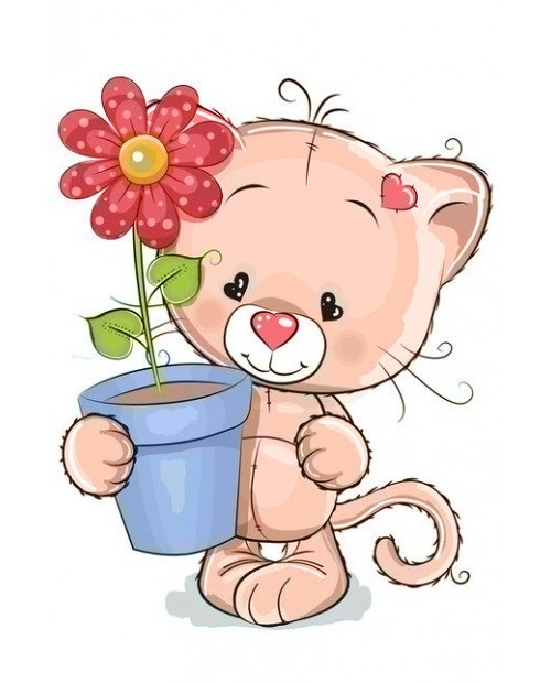 WD2367 Kitten with Gift