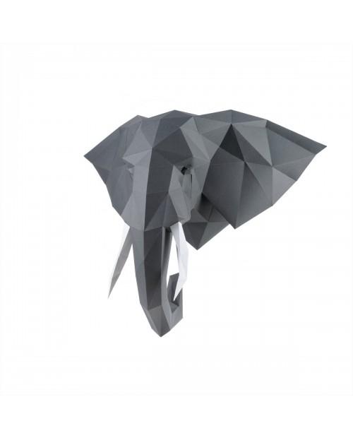 3D-Конструктор Wizardi Слон Володя Графитовый PP-1SLV-GRA