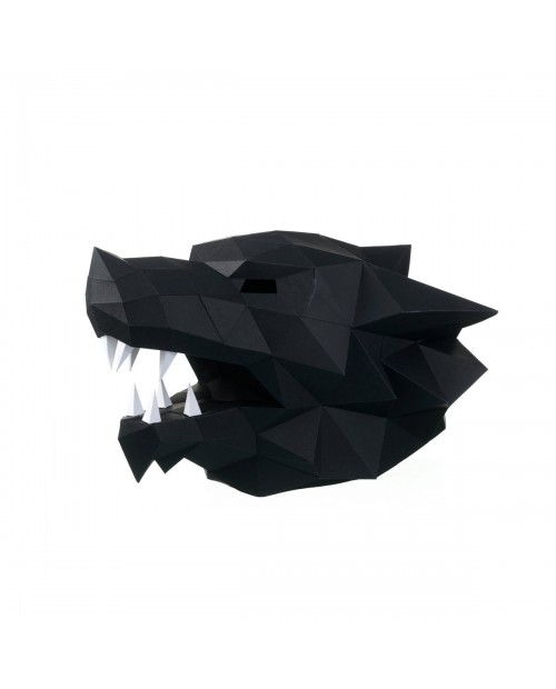Wizardi 3D Papercraft Kit Wolf Mask PP-3WOL-BLA