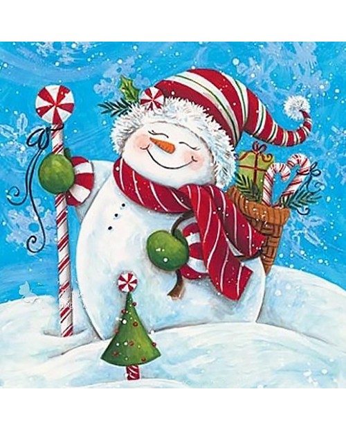 Snowman with Gifts WD2444
