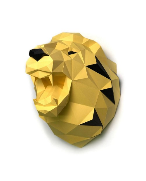 Wizardi 3D Papercraft Kit Lion Yellow PP-1LVN-SO