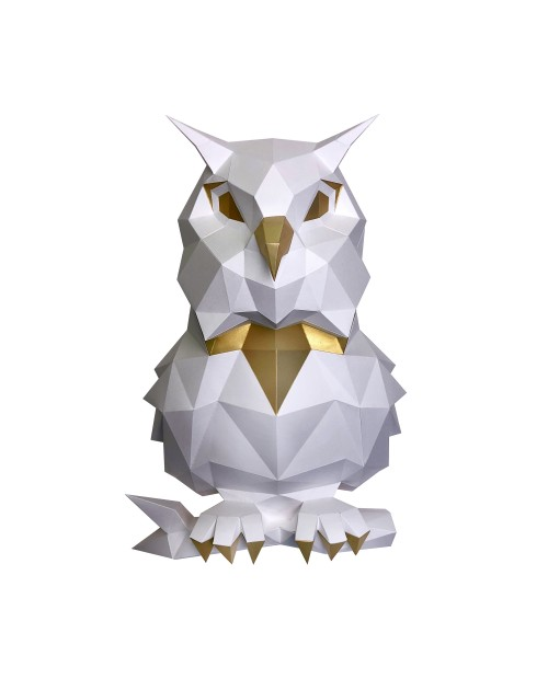 Wizardi 3D Papercraft Kit Owl White PP-1SOV-2WG