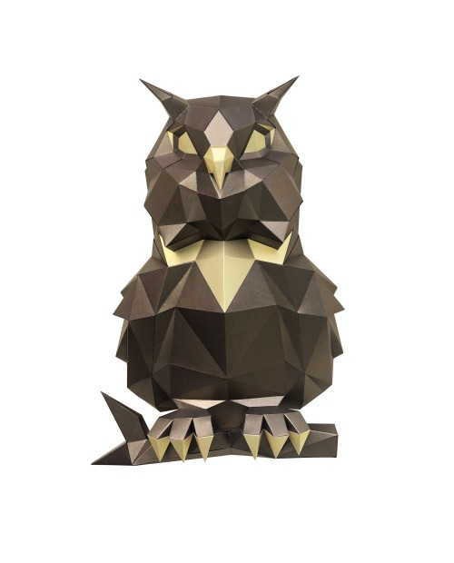 Wizardi 3D Papercraft Kit Owl Bronze PP-1SOV-2BG