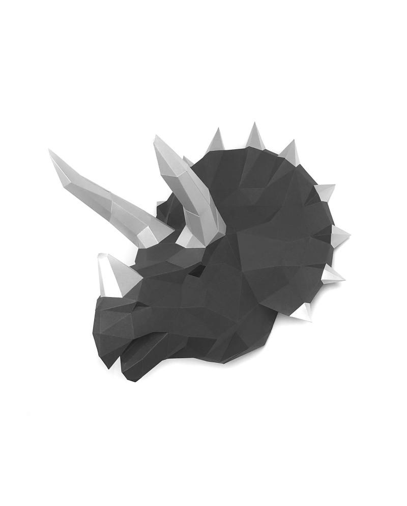 Wizardi 3D Papercraft Kit Dinosaur Tops Graphite PP-1TPS-2GS