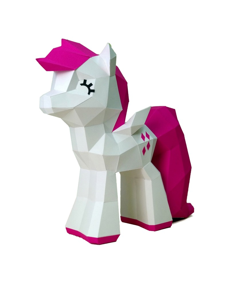 Wizardi 3D Papercraft Kit Cute Pony PP-2MIP-CRI