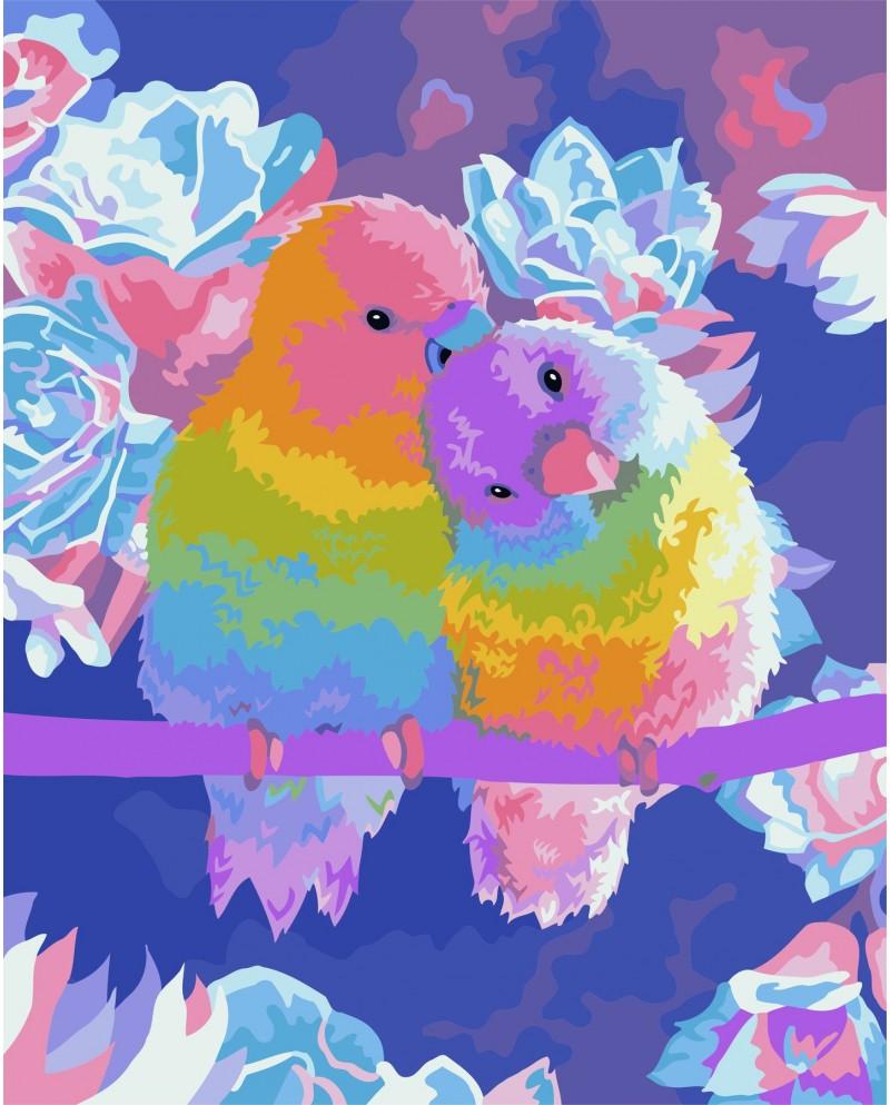 H065 Влюбленные Попугаи