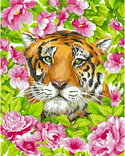 H099 Romantic Tiger