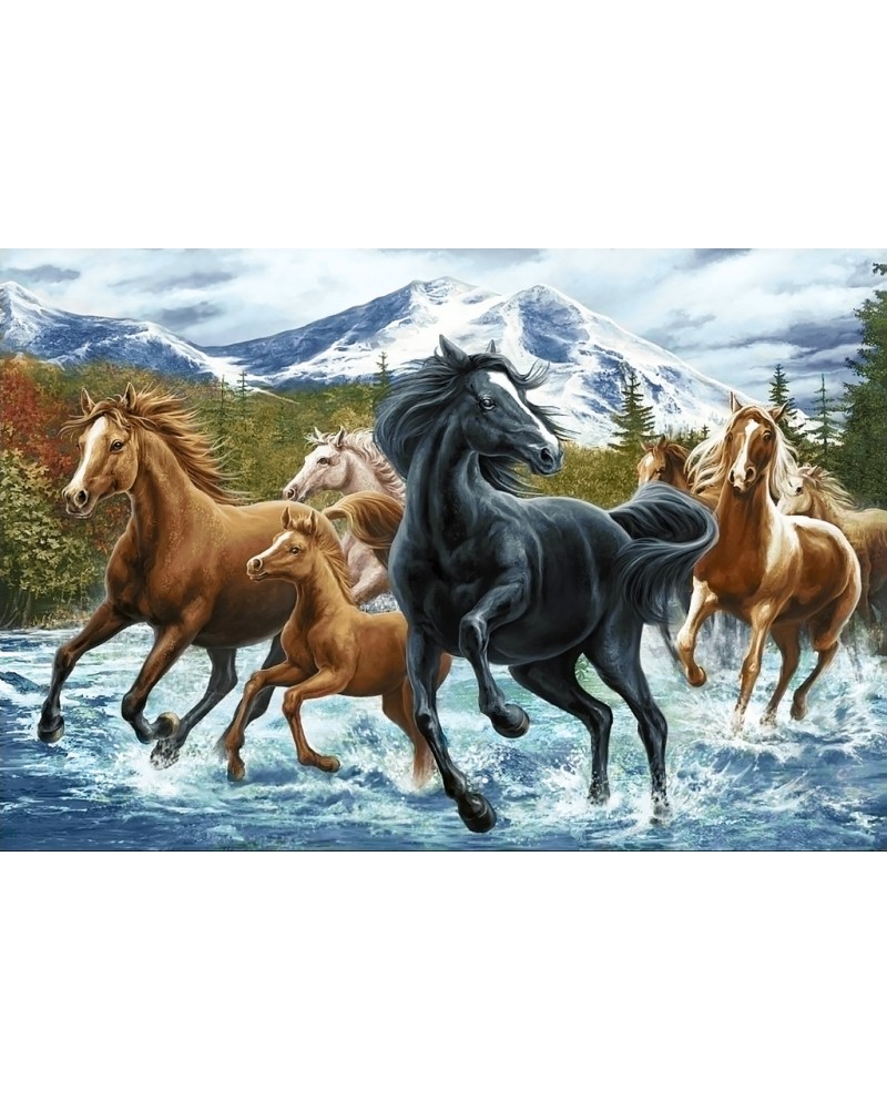 Horse Herd in the Mountains WD2499