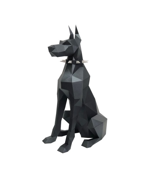 Wizardi 3D Papercraft Kit Doberman PP-2DBR-BLA