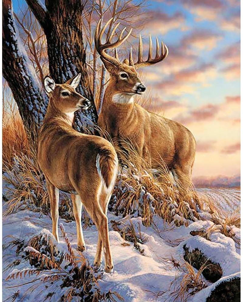 Deers in Winter WD085
